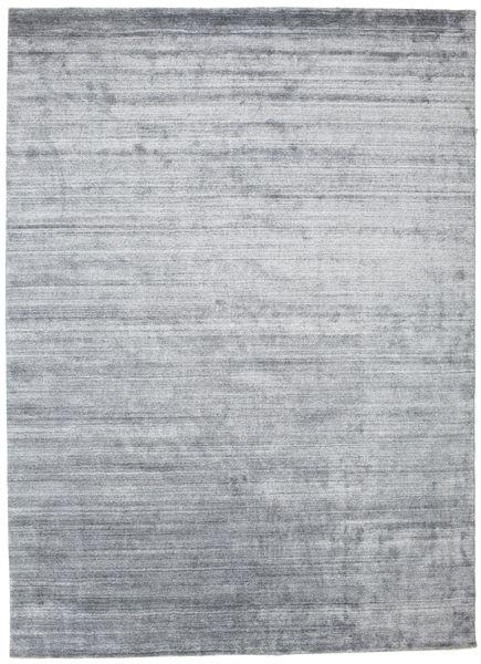 Bamboo Silkki Loom - Denim Sininen Matto 250X350 Moderni Vaaleanharmaa/Valkoinen/Creme Isot ( Intia)