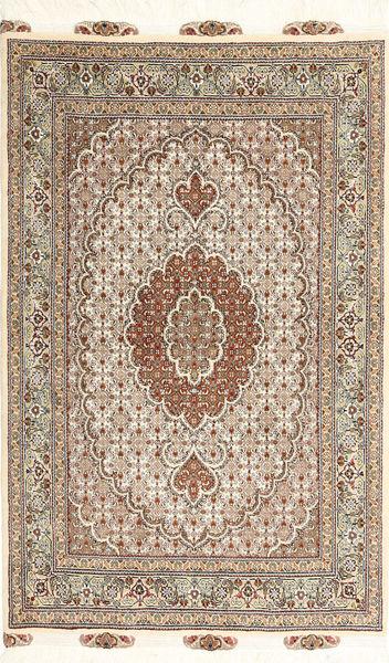 Tabriz 50 Raj Rug 100X150 Authentic  Oriental Handknotted Light Brown/Brown (Wool/Silk, Persia/Iran)