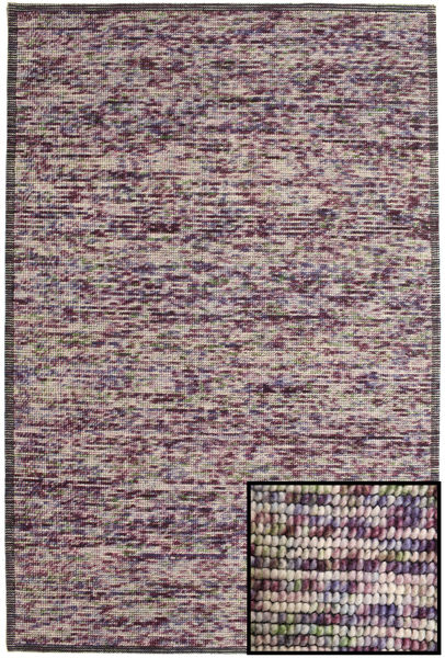 Luna - Multi 1 Rug 160X230 Authentic  Modern Handwoven Light Purple/Dark Purple (Wool, India)