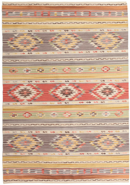 Kilim Nimrud Rug 160X230 Authentic  Modern Handwoven Light Brown/Light Grey (Wool, India)