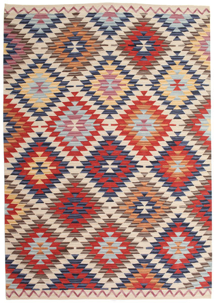 Kilim Oushak Rug 180X275 Authentic  Modern Handwoven Beige/Light Grey (Wool, India)