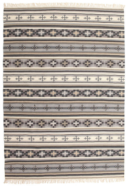 Kilim Cizre Rug 160X230 Authentic  Modern Handwoven Light Grey/Beige (Wool, India)