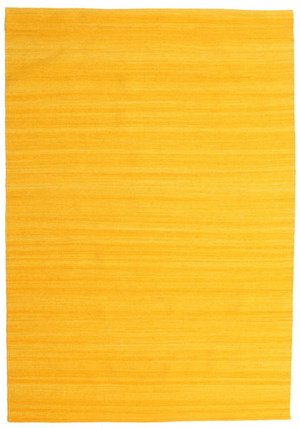 Kilim Loom - Yellow Rug 160X230 Authentic  Modern Handwoven Yellow (Wool, India)