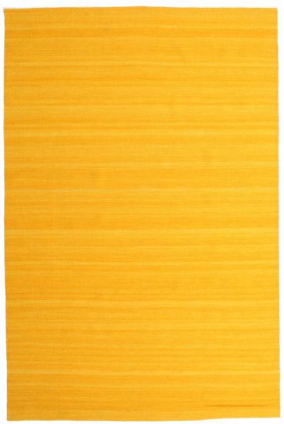 Kilim Loom - Żółty Dywan 200X300 Nowoczesny Tkany Ręcznie Żółty/Pomarańczowy (Wełna, Indie)
