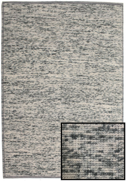 Luna - Gris Tapis 200X300 Moderne Tissé À La Main Gris Clair/Gris Foncé (Laine, Inde)