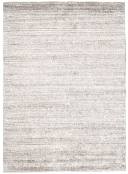 Bamboo シルク ルーム - Warm グレー 絨毯 140X200 モダン ホワイト/クリーム色/薄い灰色 ( インド)