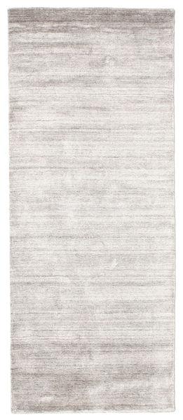 Bamboo Jedwab Loom - Warm Szary Dywan 80X200 Nowoczesny Chodnik Jasnoszary/Biały/Creme ( Indie)