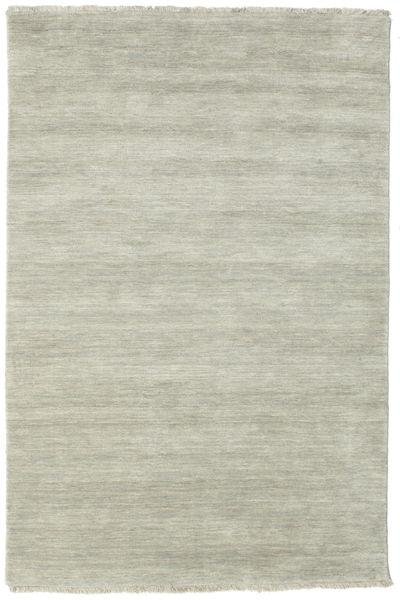 Handloom Fringes - Harmaa/Vaaleanvihreä Matto 120X180 Moderni Vaaleanharmaa/Pastellinvihreä (Villa, Intia)