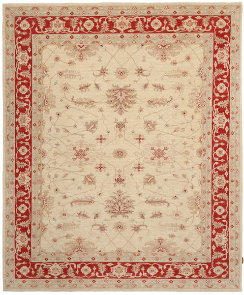 Ziegler Rug 246X305 Authentic  Oriental Handknotted Beige/Light Brown (Wool, Pakistan)