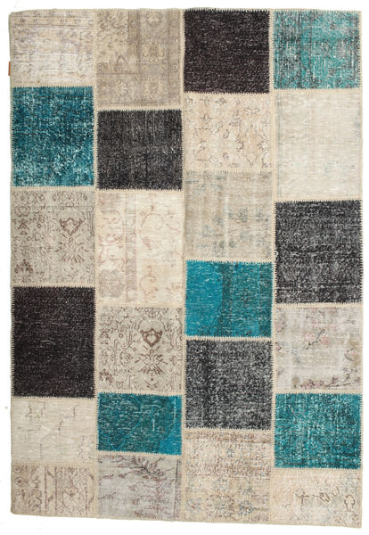 Patchwork Rug 160X232 Authentic  Modern Handknotted Light Brown/Dark Turquoise   (Wool, Turkey)