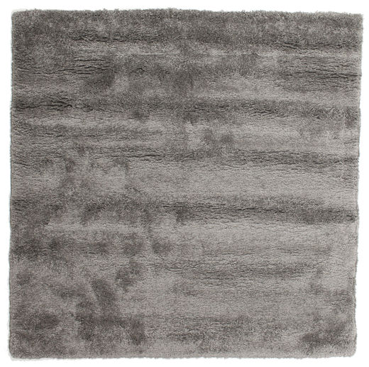 Shaggy Sadeh - Grey Rug 200X200 Modern Square Dark Grey/Light Grey ( Turkey)