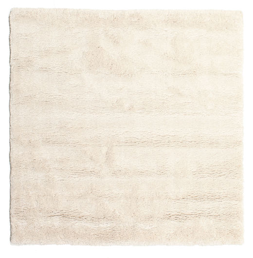 Shaggy Sadeh - Off White Rug 200X200 Modern Square Beige ( Turkey)