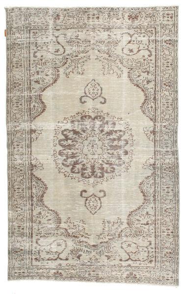 カラード ヴィンテージ 絨毯 158X253 モダン 手織り 薄い灰色/ホワイト/クリーム色 (ウール, トルコ)