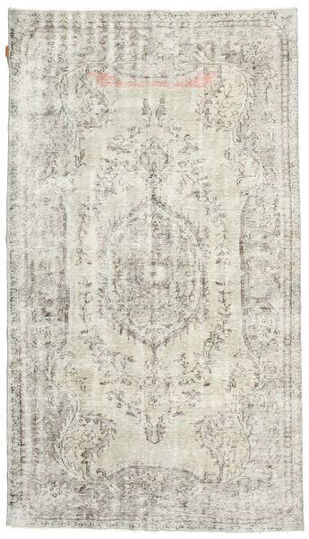 カラード ヴィンテージ 絨毯 156X272 モダン 手織り 薄い灰色/暗めのベージュ色の (ウール, トルコ)
