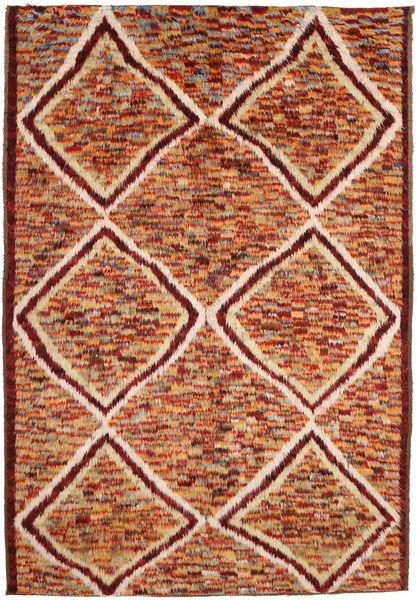 Barchi/Moroccan Berber Matto 197X292 Moderni Käsinsolmittu Tummanpunainen/Ruskea (Villa, Afganistan)