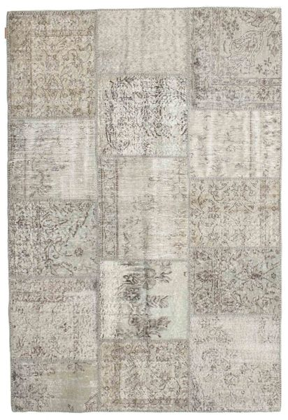 Patchwork Rug 158X232 Authentic  Modern Handknotted Light Grey/Light Brown (Wool, Turkey)