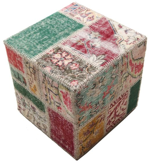 Patchwork stool ottoman teppe BHKW90