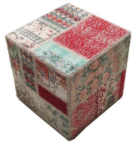 Tapis Patchwork stool ottoman BHKW93