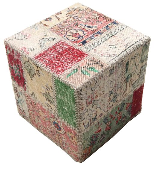 Patchwork stool ottoman teppe BHKW96