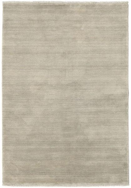 Handloom Fringes - Light Grey/Beige Rug 140X200 Modern Light Grey (Wool, India)