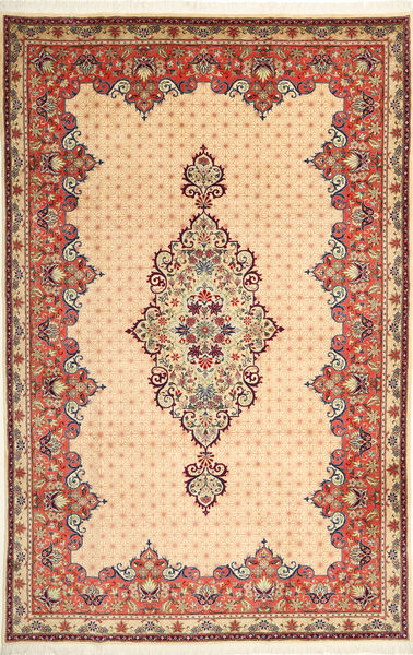 Yazd Rug 200X308 Authentic  Oriental Handknotted Light Brown/Beige (Wool, Persia/Iran)