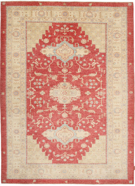 Ziegler Rug 210X285 Authentic  Oriental Handknotted Beige/Rust Red (Wool, Pakistan)