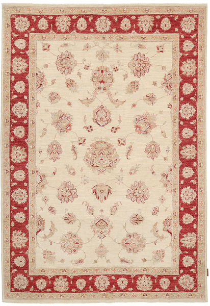 Ziegler Rug 173X246 Authentic  Oriental Handknotted Light Brown/Beige (Wool, Pakistan)