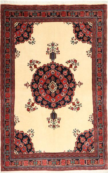Afshar/Sirjan Alfombra 151X235 Oriental Hecha A Mano Marrón/Rojo Oscuro (Lana, Persia/Irán)