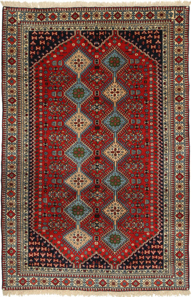 Yalameh Rug 157X248 Authentic  Oriental Handknotted Dark Red/Light Brown (Wool, Persia/Iran)