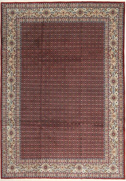 Moud Sherkat Farsh Matto 239X335 Itämainen Käsinsolmittu Tummanpunainen/Ruskea (Villa/Silkki, Persia/Iran)