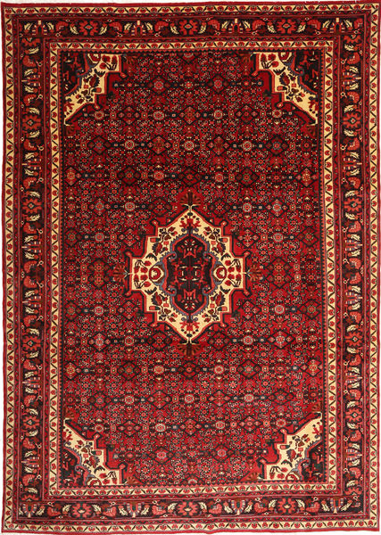 Hosseinabad Rug 248X351 Authentic  Oriental Handknotted Dark Red/Rust Red (Wool, Persia/Iran)