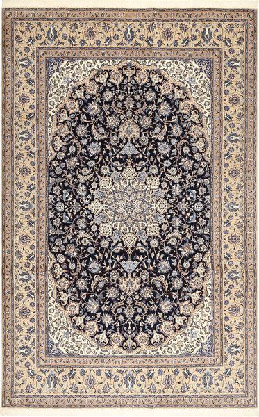 ナイン 6La Habibian 絨毯 210X323 オリエンタル 手織り 薄茶色/薄い灰色 (ウール/絹, ペルシャ/イラン)