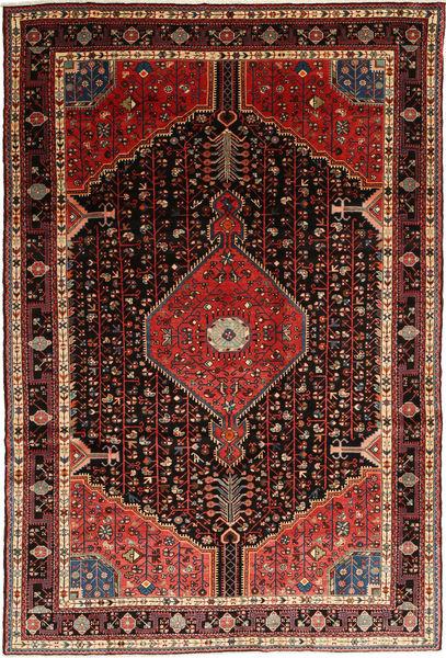 Hamadan Rug 195X292 Authentic  Oriental Handknotted Dark Red/Brown (Wool, Persia/Iran)