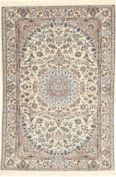 Nain 6La Teppe 107X159 Ekte Orientalsk Håndknyttet Beige/Lysbrun (Ull/Silke, Persia/Iran)