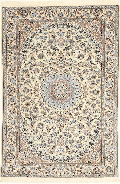 Nain 6La Rug 107X159 Authentic  Oriental Handknotted Beige/Light Brown (Wool/Silk, Persia/Iran)