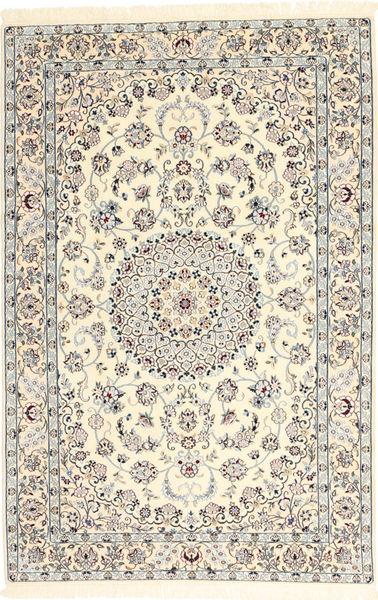 Nain 6La Matto 117X184 Itämainen Käsinsolmittu Beige/Vaaleanharmaa (Villa/Silkki, Persia/Iran)