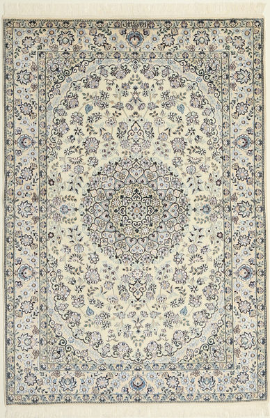 Nain 6La Rug 119X174 Authentic  Oriental Handknotted Beige/Light Grey (Wool/Silk, Persia/Iran)