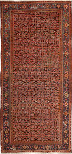 Malayer Matto 203X435 Itämainen Käsinsolmittu Tummanpunainen/Ruoste (Villa, Persia/Iran)