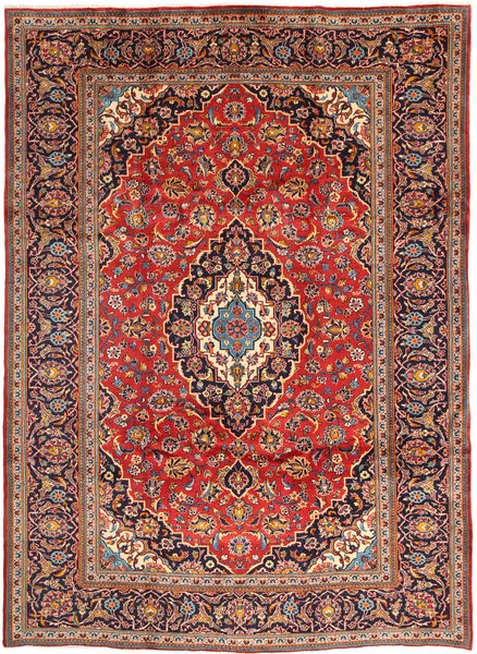Keshan Rug 248X344 Authentic  Oriental Handknotted Rust Red/Dark Red (Wool, Persia/Iran)