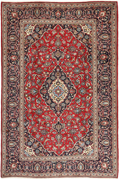 Keshan Matto 198X304 Itämainen Käsinsolmittu Tummanpunainen/Tummanruskea (Villa, Persia/Iran)