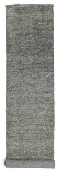 Handloom Fringes - Sötétszürke Szőnyeg 80X500 Modern Sötétszürke (Gyapjú, India)