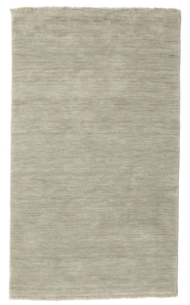 Handloom fringes - Grey / Light Green carpet CVD14006