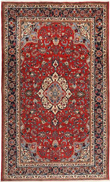Sarough Matto 203X333 Itämainen Käsinsolmittu Tummanpunainen/Ruskea (Villa, Persia/Iran)