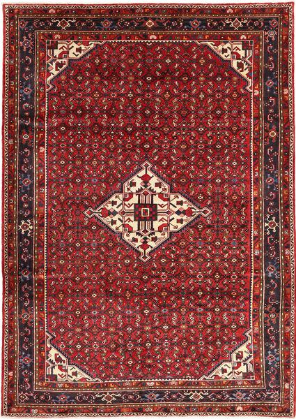 Hosseinabad Rug 212X300 Authentic  Oriental Handknotted Dark Red/Dark Brown (Wool, Persia/Iran)
