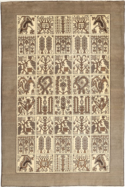 Bakhtiari Rug 200X302 Authentic  Oriental Handknotted Light Brown/Beige (Wool, Persia/Iran)