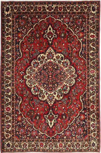 Bakhtiari Rug 215X330 Authentic  Oriental Handknotted Dark Red/Dark Grey (Wool, Persia/Iran)