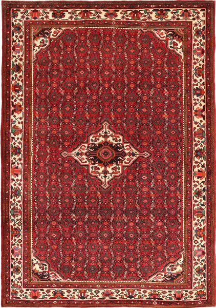 Hosseinabad Rug 208X304 Authentic  Oriental Handknotted Dark Red/Dark Brown (Wool, Persia/Iran)