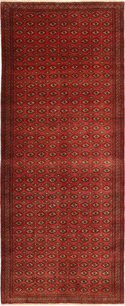 Turkaman Rug 157X391 Authentic  Oriental Handknotted Hallway Runner  Dark Red/Dark Brown/Rust Red (Wool, Persia/Iran)