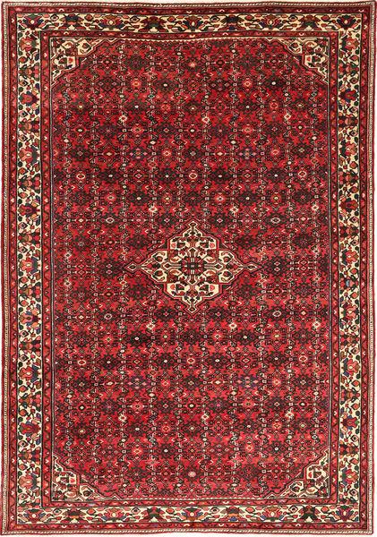 Hosseinabad Matto 209X305 Itämainen Käsinsolmittu Tummanpunainen/Tummanruskea (Villa, Persia/Iran)