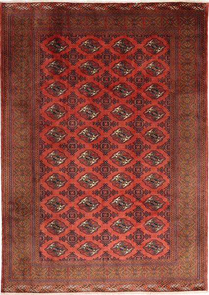 Turkaman Rug 202X288 Authentic  Oriental Handknotted Dark Red (Wool, Persia/Iran)